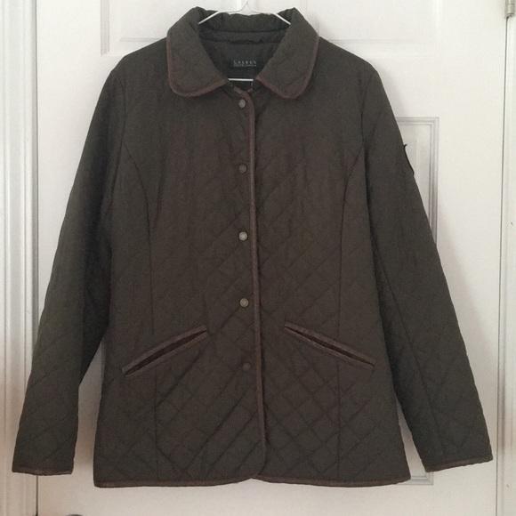 Lauren Ralph Lauren Jackets Coats Army Green Quilted Jacket M